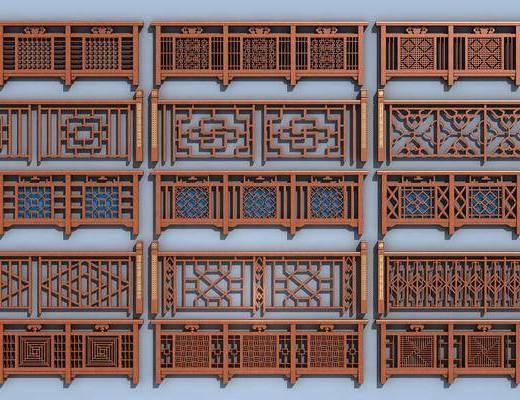 新中式, 栏杆, 护栏