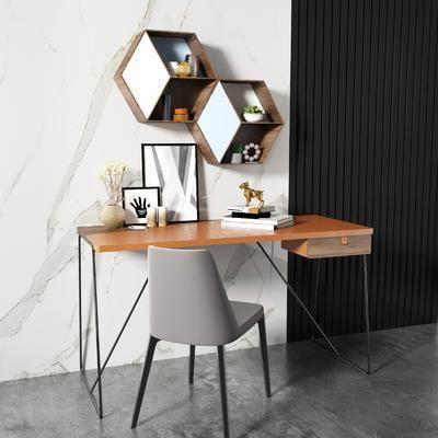 桌椅组合, 墙饰, 摆件组合, 装饰画