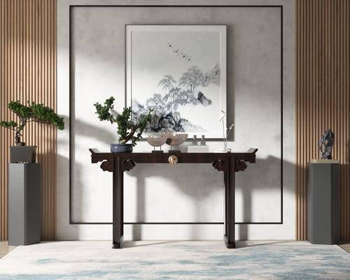 中式, 端景台, 盆景