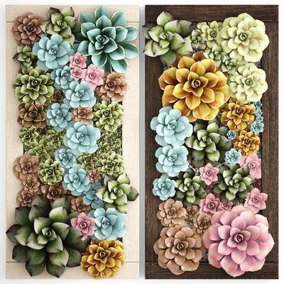 植物, 多肉, 背景墙, 植物背景墙, 植物墙, 现代
