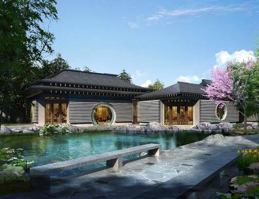 中式园林建筑, 古建, 园林, 景观