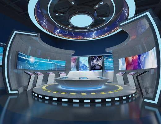 科技展厅, 展览展厅, 现代