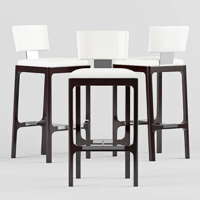 美式, 实木, 吧台椅