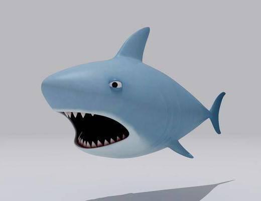 卡通小鲨鱼, 水生动物, 现代
