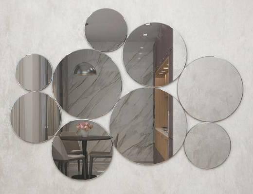 现代简约, 简约装饰镜, 墙面装饰镜, 装饰镜