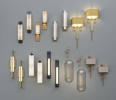 新中式壁灯, 壁灯, 新中式
