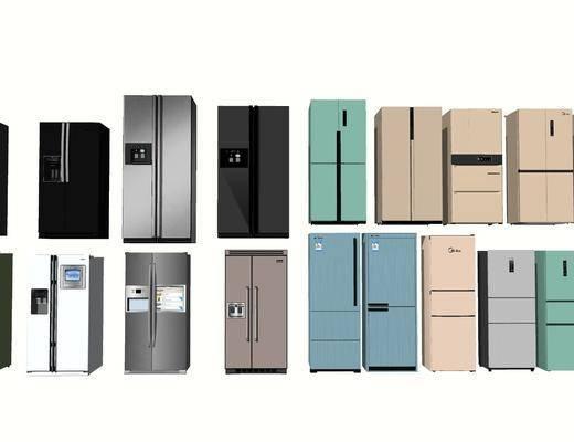 现代冰箱, 冰箱组合