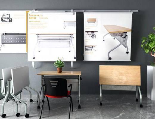 现代, 课桌, 组合