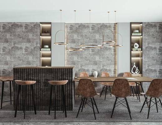 餐椅, 餐桌, 吧台, 吧椅, 餐厅吊灯