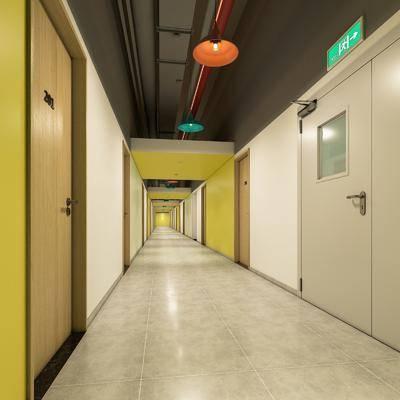 走廊, 吊灯组合, 工业风