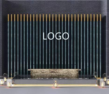 背景墙, 景观墙, logo墙, 形像墙, 现代