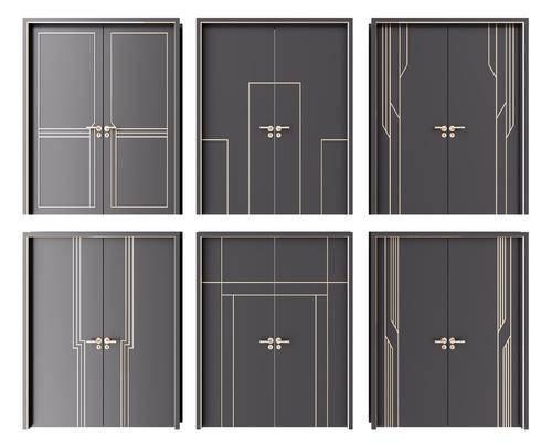门, 房门, 双开门, 现代门