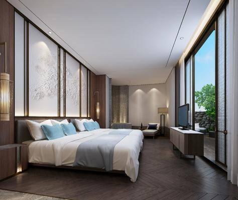 新中式, 酒店, 客房