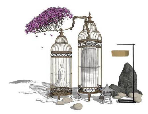 鸟笼, 摆件组合
