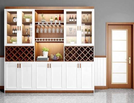 酒柜, 装饰柜, 置物柜, 红酒, 陈设品, 摆件