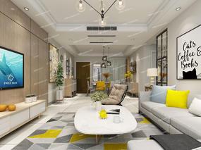 北欧, 现代, 客餐厅, 沙发组合