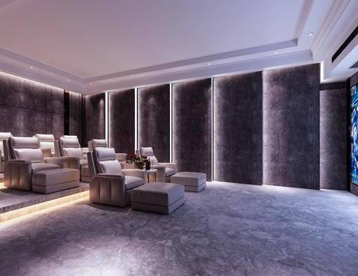 电影院, 巨幕, 沙发, 单人椅