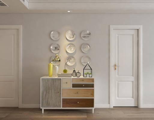 装饰柜, 边柜, 餐边柜, 墙饰, 摆件, 装饰品, 陈设品, 北欧