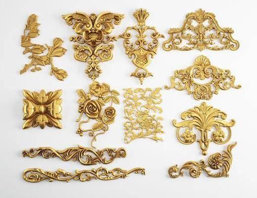 雕花, 欧式雕花, 金属