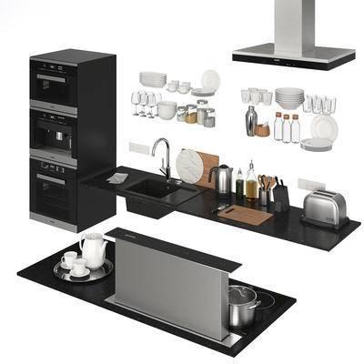 工作台, 厨房, 橱柜, 厨具