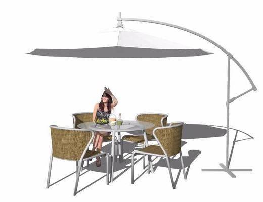 户外椅, 遮阳伞, 桌椅组合