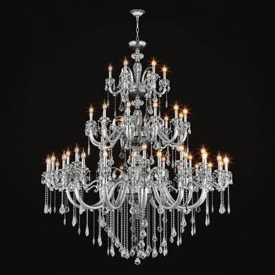 水晶吊灯, 吊灯, 铁艺, 水晶, 欧式