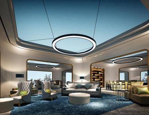 机场贵宾, 机场, 沙发组合, 沙发茶几组合, 休息场, 现代