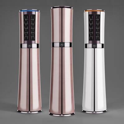 现代柜式立式空调3d模型, 空调, 立式空调
