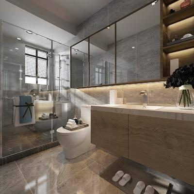 卫生间, 淋浴间