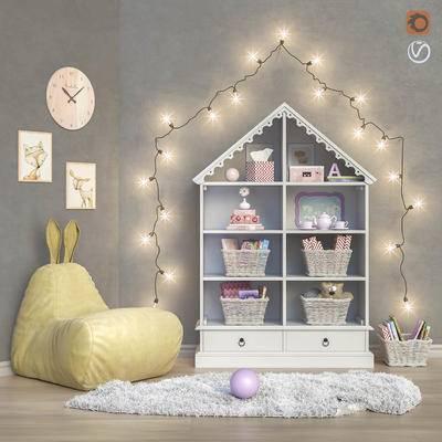 现代儿童装饰柜, 装饰灯串