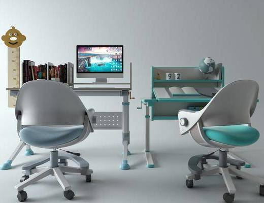 现代, 书桌, 椅子