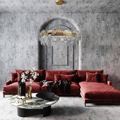 现代沙发, 现代多人沙发