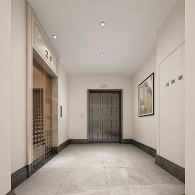 現代, 電梯間