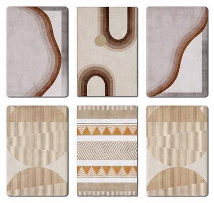 现代, 轻奢, 地毯, 组合