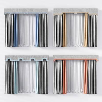 现代窗帘, 布艺窗帘, 窗帘