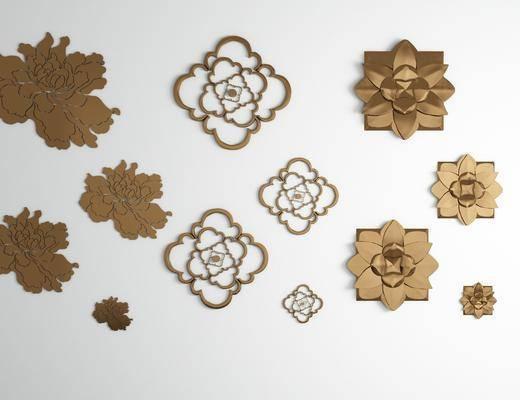 金屬花瓣, 墻飾掛件, 現代
