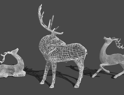 动物, 雕塑, 摆件, 装饰品