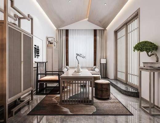 新中式书房, 书桌