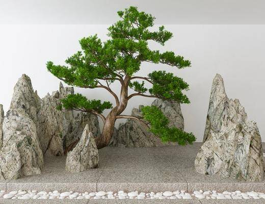 景观小品, 园艺小品, 树木, 新中式