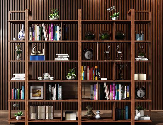 中式, 书架, 书籍, 陈设品