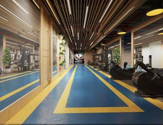 健身器材, 健身會所, 健身室, 健身運動會所, 工業風