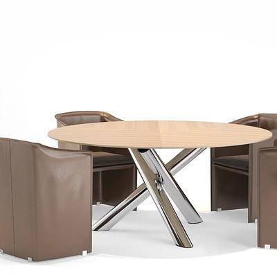 现代餐桌椅组合, 餐桌, 单椅, 椅子, 现代