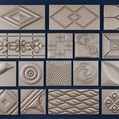 现代软包组合, 欧式硬包, 墙饰
