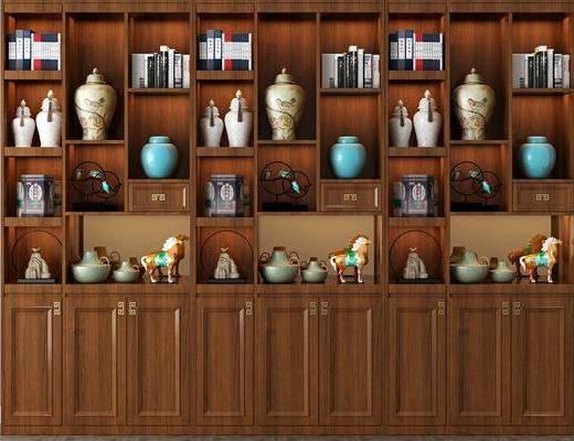 置物柜, 柜架组合