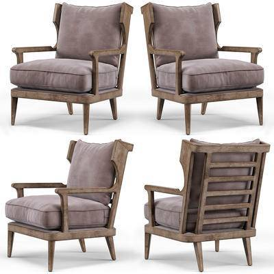 扶手椅, 休闲椅, 单人沙发, 单椅, 现代