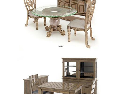 桌椅, 椅子, 桌子, Evermotion, Archmodels, EV