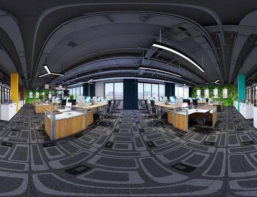 现代办公区, 全景