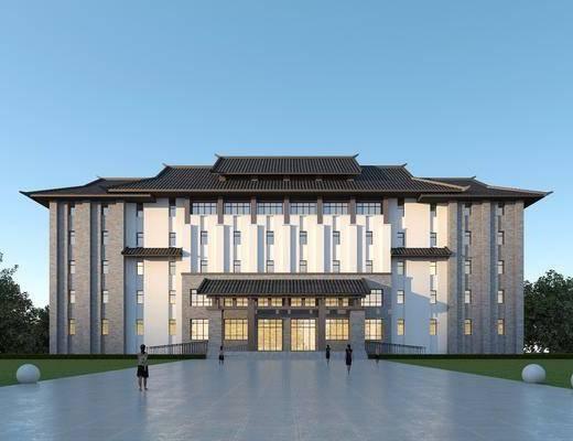 新中式, 办公楼