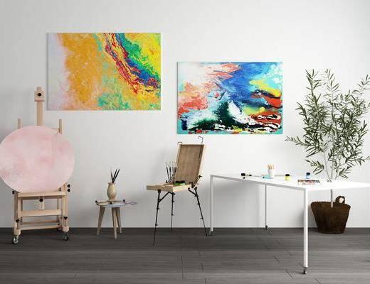现代, 画板, 画架