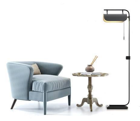 北欧简约, 沙发, 落地灯, 茶几, 沙发茶几组合, 北欧